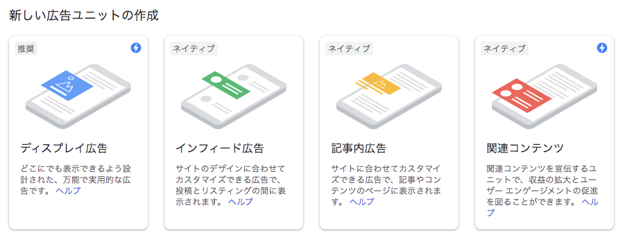 Google AdSense広告の種類