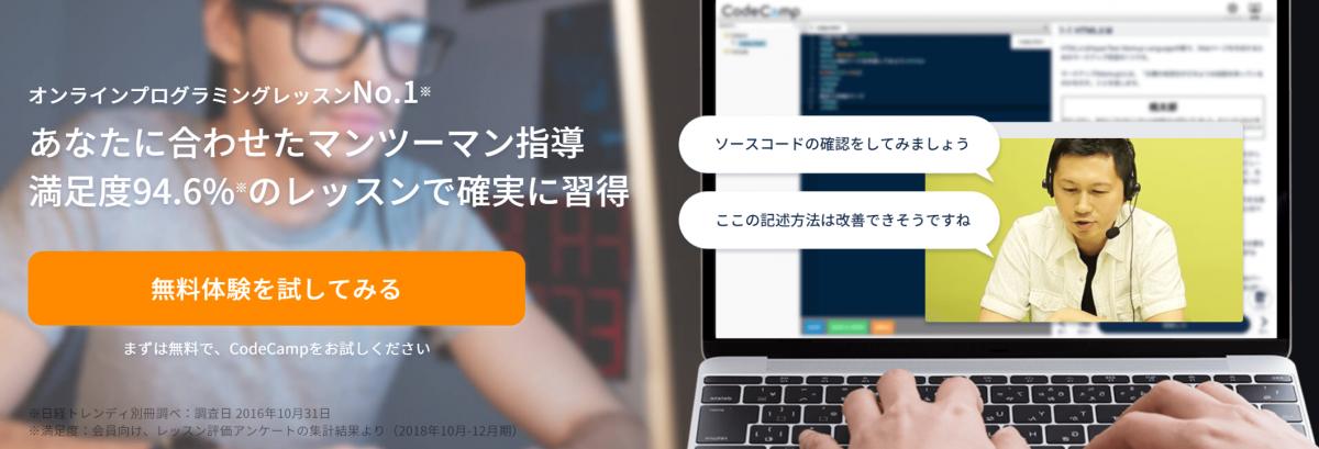 【CodeCamp】トップ画面